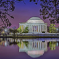 Twilight At The Thomas Jefferson Memorial  by Susan Candelario