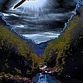 Twilight Canyon Eclipse by James Potts