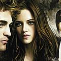 Twilight  Kristen Stewart And Robert Pattinson Artwork 1 by Sheraz A