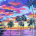 Twilight Palms by Bonnie Lambert