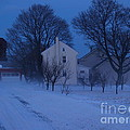 Twilight Snow On Bauman Road by Anna Lisa Yoder