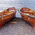 Twin Boats by Nataliya Pergaeva