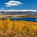 Twin Lakes Colorado Autumn Snow Dusted Mountains by James BO  Insogna