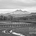 Twin Peaks Mt Meeker And Longs Peak Bw Country by James BO Insogna