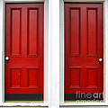 Twin Red Doors by Olivier Le Queinec