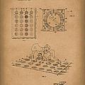 Twisting Game 1969 Patent Art Brown by Prior Art Design