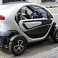 Twizy Rental Electric Car Side And Back Milan Italy by Sally Rockefeller