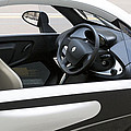 Twizy Rental Electric Car Side And Interior Milan Italy by Sally Rockefeller