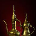Two Arabic Coffee Pots by Ann Garrett