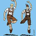Two Bavarian Lederhosen Men by Frank Ramspott