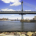 Two Bridges View - Manhattan by Madeline Ellis