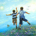 Two Brothers Leaping by Vickie Wade