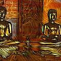 Two Buddhas by Ian Gledhill