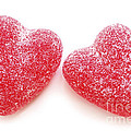 Two Candy Hearts by Elena Elisseeva