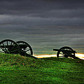 Two Cannons At Gettysburg by Bill Cannon