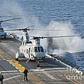 Two Ch-46e Sea Knight Helicopters by Stocktrek Images