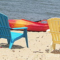 Two Chairs And A Boat by Elinor Helen Rakowski