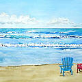 Two Chairs At The Beach by Laurie Anderson