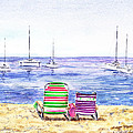 Two Chairs On The Beach by Irina Sztukowski