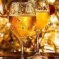 Two Champagne Glasses Ready To Bring In The New Year by Alex Grichenko