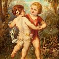 Two Cherubs by Franz Lefler
