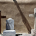 Two Crosses and Gravestone Chimayo Mission Santuario de Chimayo New Mexico