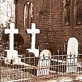 Two Crosses In Saint Lukes  by Artist and Photographer Laura Wrede