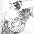 Two Cups And A Saucer by John Castell