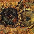 Two Cutted Sunflowers by Vincent van Gogh