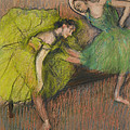 Two Dancers In The Foyer by Edgar Degas
