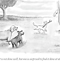 Two Dogs Criticize A Cat Who Has Just Retrieved by Paul Noth