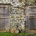 Two Doors On A Barn by Bill Cannon