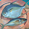 Two Fish On A Copper Platter by Larisa Ivakina-Clevenger