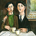 Two Gay Men In A Paris Cafe by C Turner