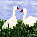 Two Geese by Barbara Moignard