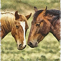 Two Horses by Ingrid Smith-Johnsen