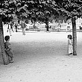 Two Kids In Paris by Dave Beckerman