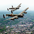 Two Lancasters Over High Wycombe by Gary Eason