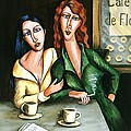 Two Lesbians In A Paris Cafe by C Turner