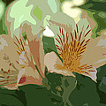 Two Lilies Cutout by Linda Brody