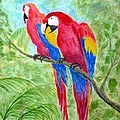 Two Macaws by Barbie Corbett-Newmin