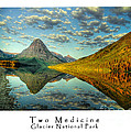 Two Medicine Lake Sunrise by Virgil Hawkinson