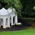 Two Meditating Cupolas In Fort Canning Park Singapore by Imran Ahmed