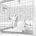 Two Men In A Jail Cell. One Is Examining A Wall by Jack Ziegler