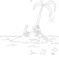 Two Men On An Desert Island Open Messages by Liana Finck