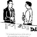 Two Men Talk In A Bar by Drew Dernavich