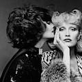 Two Models Wearing Wigs By Edith Imre by Francesco Scavullo