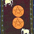 Two Of Pentacles by Sushila Burgess
