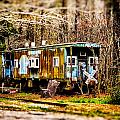 Two Old Cabooses by Bill Swartwout Fine Art Photography