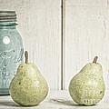 Two Pear Still Life by Edward Fielding